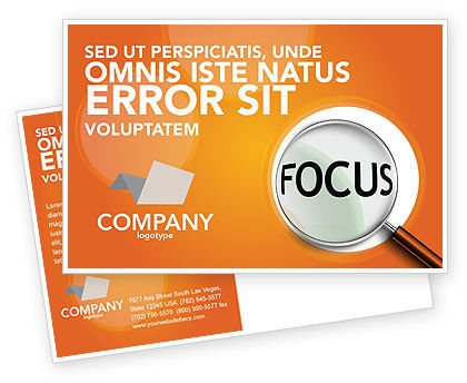 Focus Postcard Template, 03176, Consulting — PoweredTemplate.com