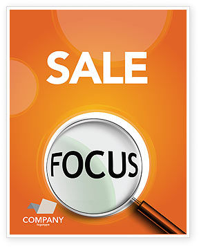 Focus Sale Poster Template, 03176, Consulting — PoweredTemplate.com