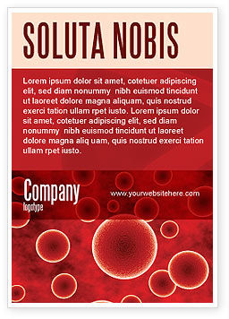 Medical: Red Spheres Ad Template #03177