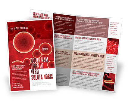 Red Spheres Brochure Template, 03177, Medical — PoweredTemplate.com
