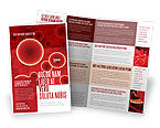 Medical: Red Spheres Brochure Template #03177