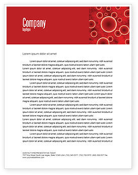 Medical: Red Spheres Letterhead Template #03177