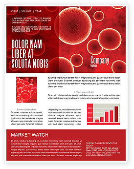 Medical: Red Spheres Newsletter Template #03177
