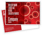 Medical: Red Spheres Postcard Template #03177