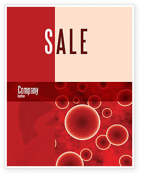 Medical: Red Spheres Sale Poster Template #03177