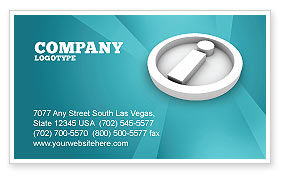 Information Business Card Template, 03178, Technology, Science & Computers — PoweredTemplate.com