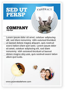 Legal: Contract Ad Template #03181