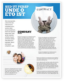 Contract Flyer Template, 03181, Legal — PoweredTemplate.com