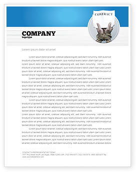 Contract Letterhead Template, 03181, Legal U2014 PoweredTemplate.com