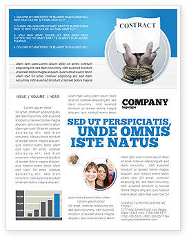 Contract Newsletter Template, 03181, Legal — PoweredTemplate.com