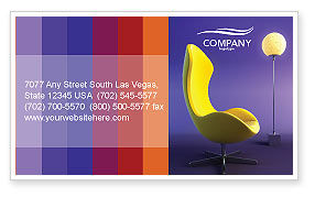 Art & Entertainment: Comfort Business Card Template #03182