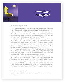 Comfort Letterhead Template, 03182, Art & Entertainment — PoweredTemplate.com