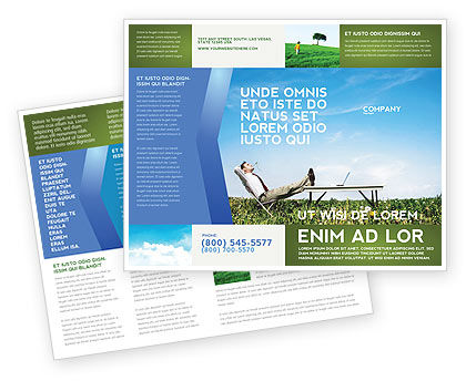 Ecological Environment Brochure Template, 03184, Technology, Science & Computers — PoweredTemplate.com