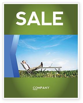 Technology, Science & Computers: Ecological Environment Sale Poster Template #03184