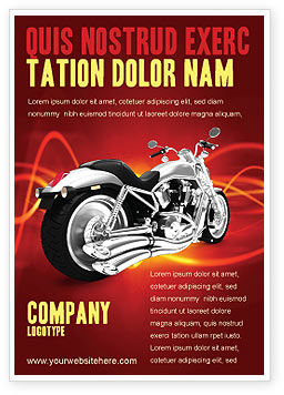 Cars/Transportation: Bike Ad Template #03188