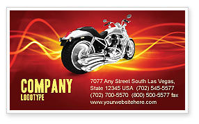 Cars/Transportation: Bike Business Card Template #03188
