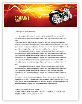 Bike Letterhead Template, 03188, Cars/Transportation — PoweredTemplate.com