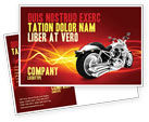 Cars/Transportation: Bike Postcard Template #03188