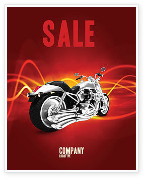 Cars/Transportation: Bike Sale Poster Template #03188