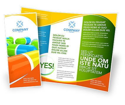 Colored Pills Brochure Template Design And Layout Download Now - Brochures template