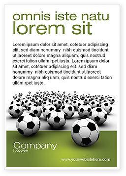 Sports: Voetbalkampioenschap Advertentie Template #03192