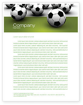 Football Championship Letterhead Template, 03192, Sports — PoweredTemplate.com