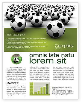 Football Championship Newsletter Template, 03192, Sports — PoweredTemplate.com