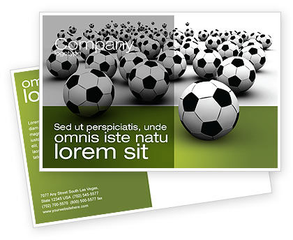 Football Championship Postcard Template