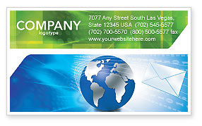 Global: Post Business Card Template #03193