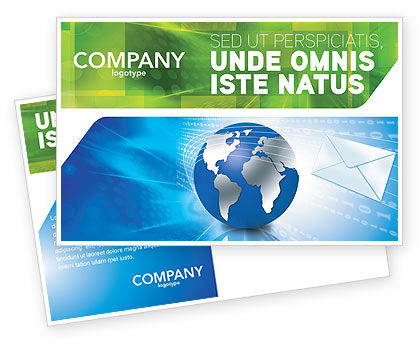 Global: Post Postcard Template #03193