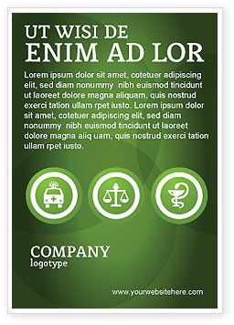 Signs Of Medicine In A Green Colors Ad Template, 03195, Medical — PoweredTemplate.com