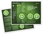 Medical: Signs Of Medicine In A Green Colors Brochure Template #03195