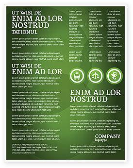 Medical: Zeichen der medizin in grünen farben Flyer Vorlage #03195