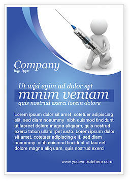 Medical: Stickman With Syringe Ad Template #03199