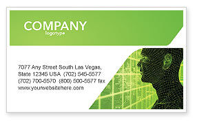 Artificial Intelligence Business Card Template, 03201, Technology, Science & Computers — PoweredTemplate.com