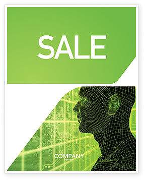 Technology, Science & Computers: Artificial Intelligence Sale Poster Template #03201