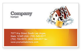 Construction: Home Security Business Card Template #03203