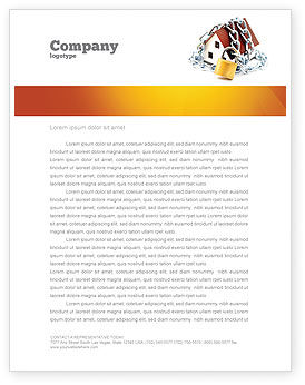 Home Security Letterhead Template, 03203, Construction — PoweredTemplate.com