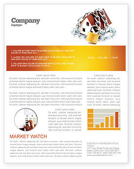 Construction: Home Security Newsletter Template #03203