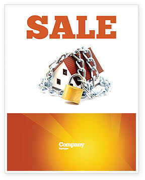 Construction: Home Security Sale Poster Template #03203