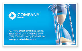 Time Value Business Card Template, 03207, Business Concepts — PoweredTemplate.com