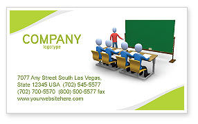 Teaching Class Business Card Template, 03209, Education & Training — PoweredTemplate.com