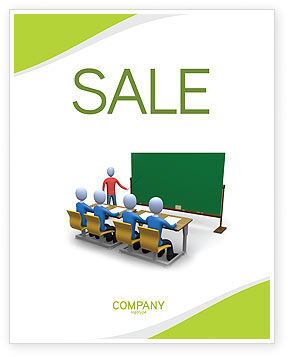 Teaching Class Sale Poster Template, 03209, Education & Training — PoweredTemplate.com