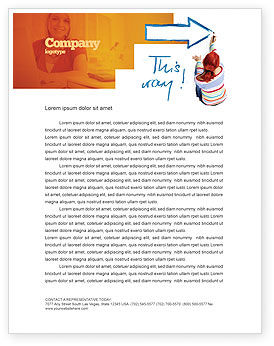 Direction Letterhead Template, 03210, Consulting — PoweredTemplate.com