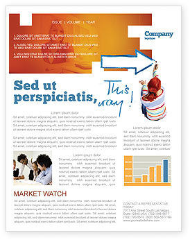 Direction Newsletter Template, 03210, Consulting — PoweredTemplate.com