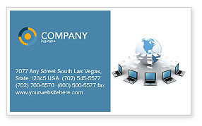 Technology, Science & Computers: Data Transfer Business Card Template #03211