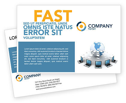 Data Transfer Postcard Template