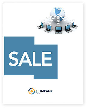 Technology, Science & Computers: Data Transfer Sale Poster Template #03211