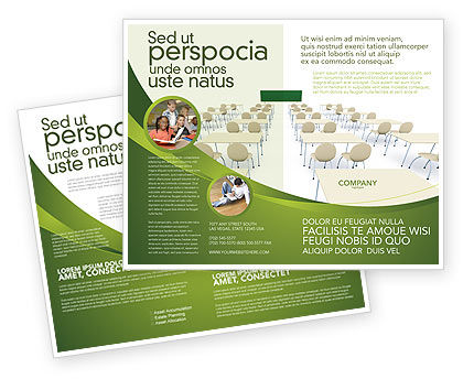 School Class Brochure Template, 03212, Education & Training — PoweredTemplate.com
