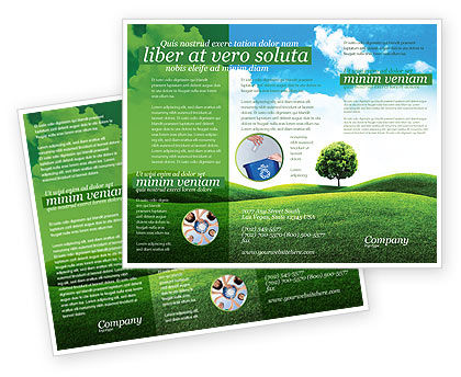 Nature & Environment: Meadow Brochure Template #03213